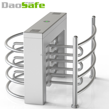 Baffle Gate Turnstile Half Height Barrier With Finger Print Access Control