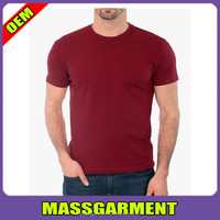 Fashion men athletic short sleeve plain solid color t shirt strong muscle men slim fit t shirt