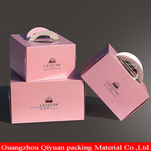 Different Color Food Grade Custom Paper Box Recycle Retail Rose Gold Muffin Packaging