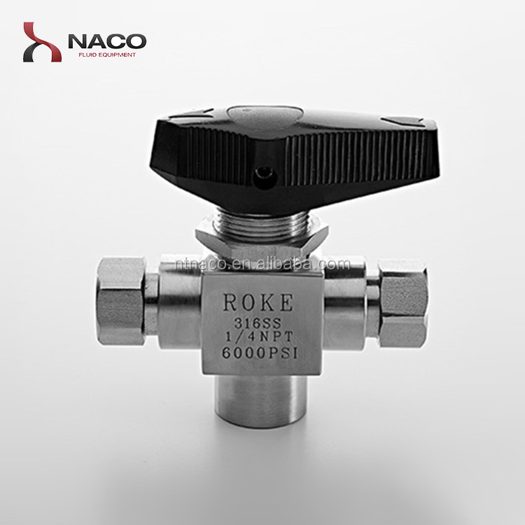 Three way hydraulic segment ball valve with limit switch