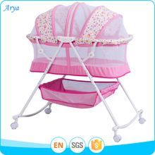 Malaysia folding portable electric automatic Christmas wooden baby cradle swing clearance bassinet next to bed doll crib