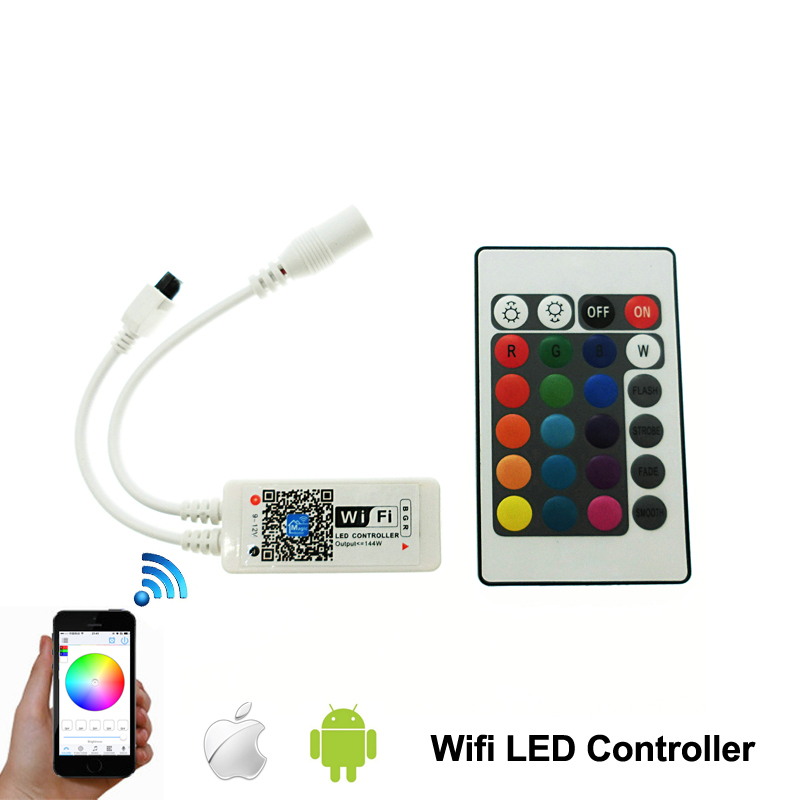 16Million colors Wifi RGB/ RGBW led controller smartphone control music and timer mode magic home wifi led controller