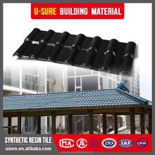 house plans Fire retardant coating corrugated weather sheet plastic edge trim roof tile pvc synthetic resin tile
