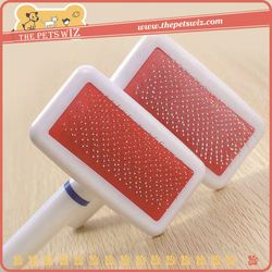 Promotion pet dog bath massage comb ,h0t7u large dog grooming brushes , colorful pet grooming flea combs