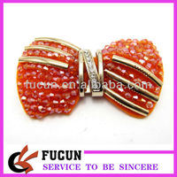 Ladies Orange Plastic Bead Metal Shoes