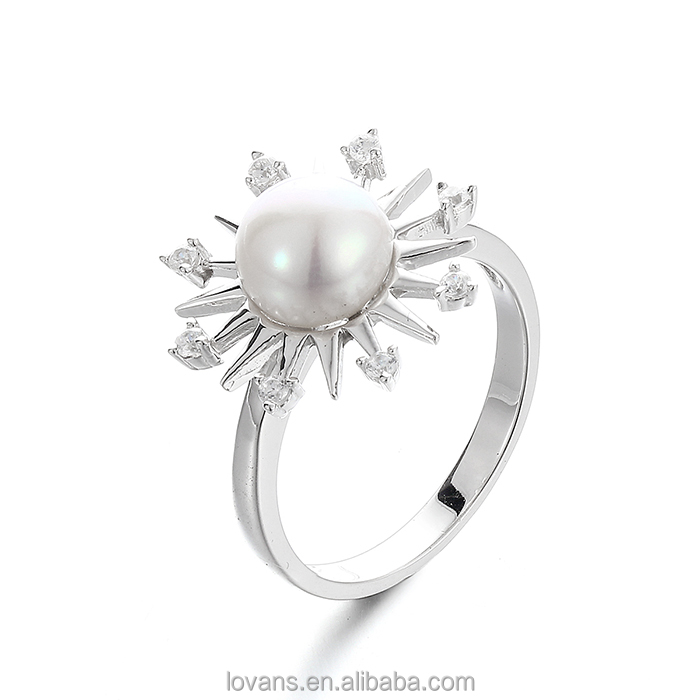 Freasheater Pearl Jewellery Women Accessories 925 Silver Fashion Ring SRK019W