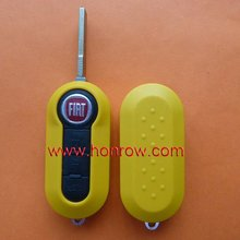 New Product - Fiat key shell 3 button flip remote key blank (Yellow Color) &car key blank&key shell
