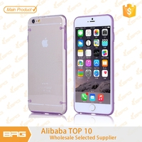 BRG Cheaper Price Double Color Mobile Phone Silicon Case For Apple iPhone 6