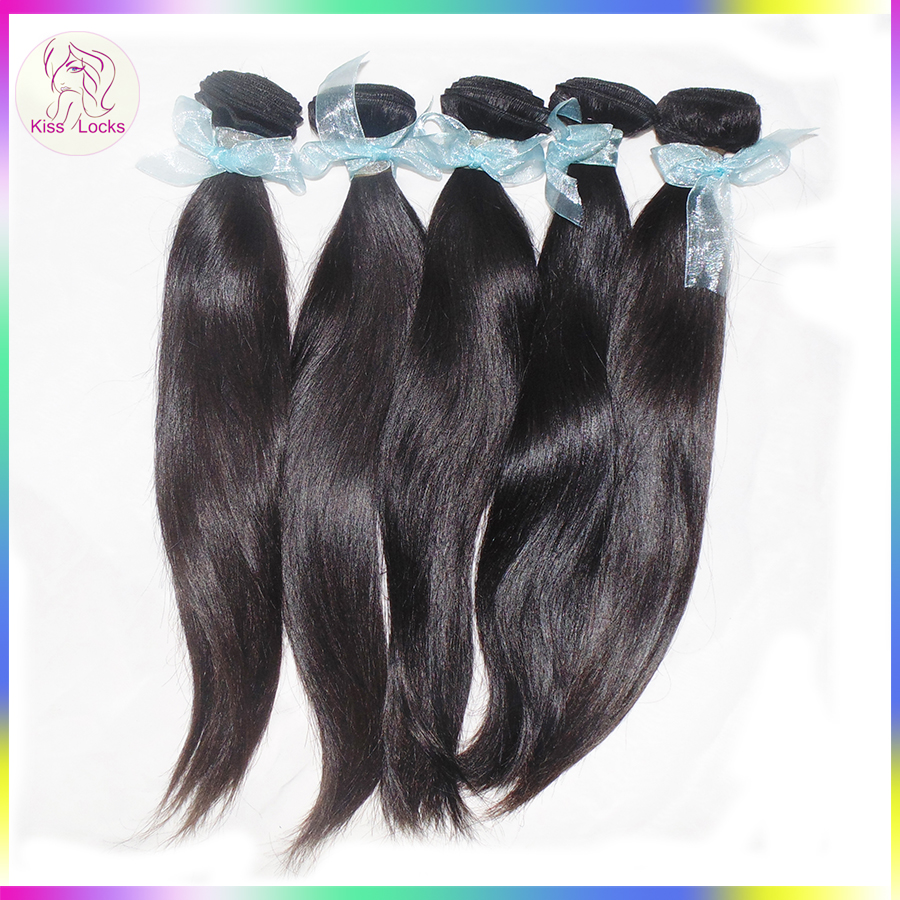 Alibaba Dropshipper 10A Natural Virgin Remy Hair Weaves Russian Diamond Straight Ponytail Styles