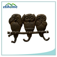 Owls Wall Hook, See No Evil, Hear No Evil, Speak No Evil