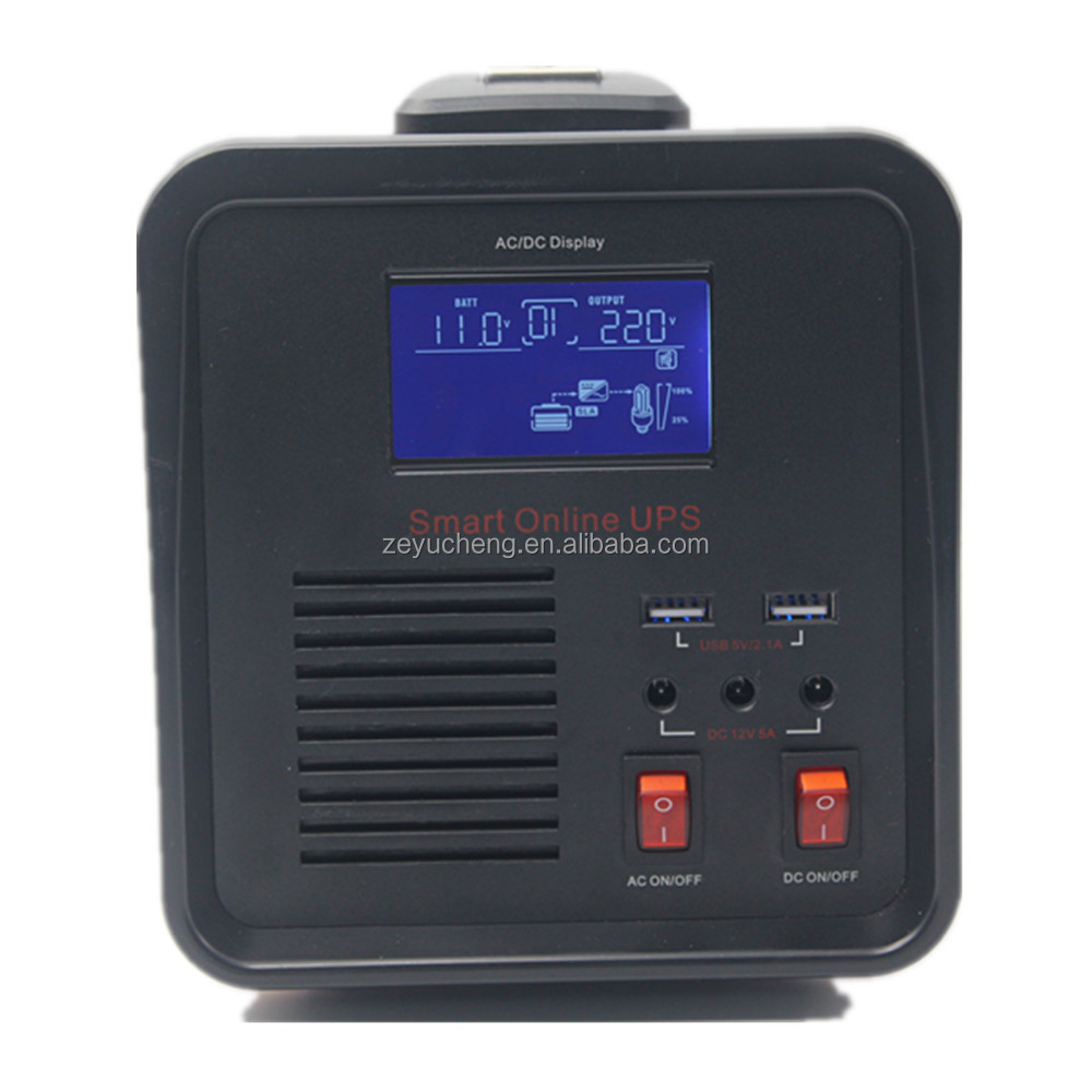 Pure Sine Wave High Frequency Online Ups 500W With Battery Inside