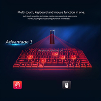 Virtual Laser Keyboard and Mouse for tablet with Mini Bluetooth Speaker Wireless Bluetooth Keyboard Voice Broadcast