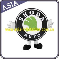 Adult car logo mascot costume, advertisng car logo costume for car show