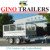 Flat top heavy duty tandem box trailer