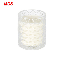 Machine press tempered glass candle holder made in China