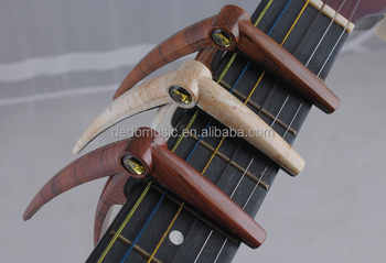 Used for classic guitar wood color wholesale custom guitar capo