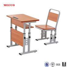 Mecco fashionable study table wooden chair cheap school desks