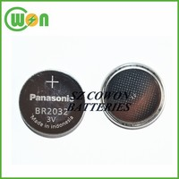 high temperature coin cell 3V BR2032 button cell battery BR-2032/BN Japan brand made in Indinesia