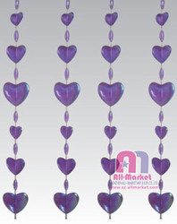 Wedding decor Purple heart shape Beaded Door Curtain AM2212B