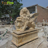 Full size marble flying lion statue from Chinese golden supplier