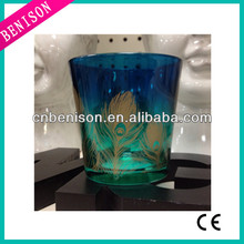 High quality cheapest hobby lobby tealight peacock feather for sale green colour wedding dresses sarees fabric candle holder