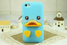 Wholesales Yellow Soft Silicone Duck Shape Design Case Cover for Apple iPhone 5C