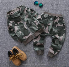 2017 Latest 2Pieces Baby Boys Outfit Suit children camouflage clothing Hot selling