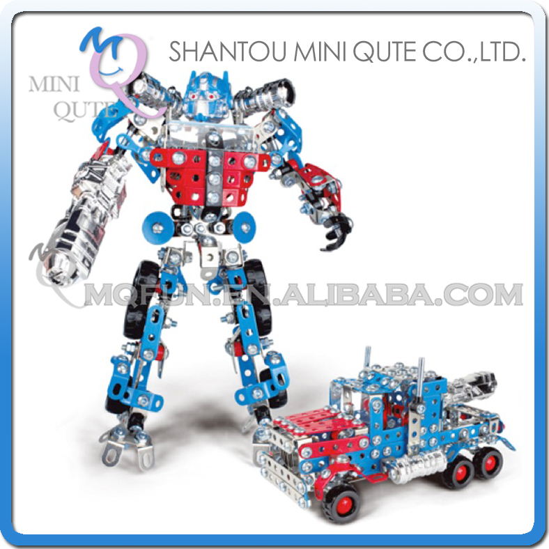 MINI QUTE super hero robot Iron commander metal connect puzzle Assembly DIY building blocks kid educational toys NO.816B-107