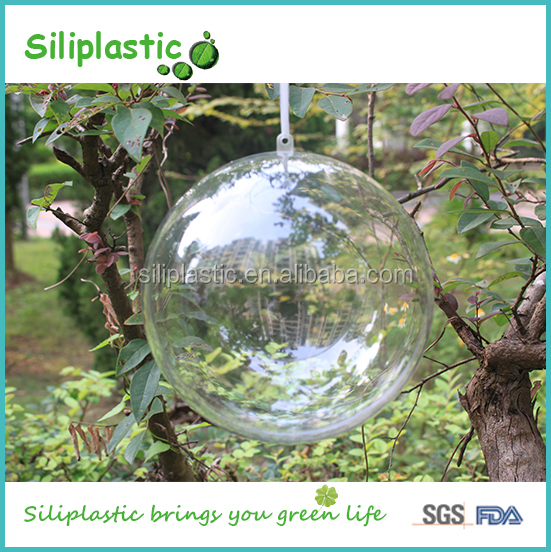 100mm Hanging Wholesale Clear Glass Christmas Ball Ornaments