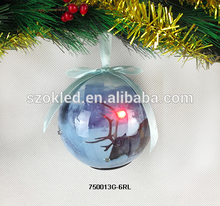 Hot Sale! Wholesale christmas ball with led light ball ornament