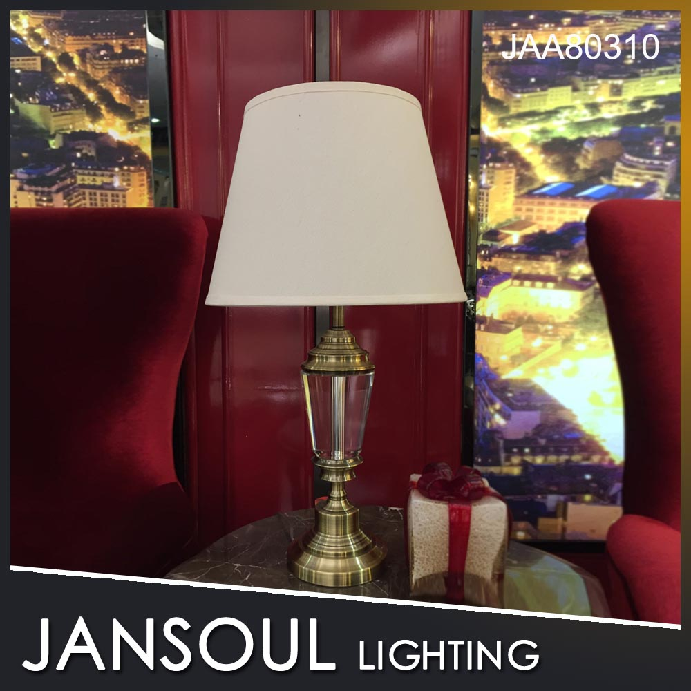 JANSOUL new designs indoor decorating crystal antique table lamp