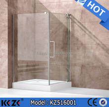 customed made 6/8/10mm frameless hinge shower enclosure