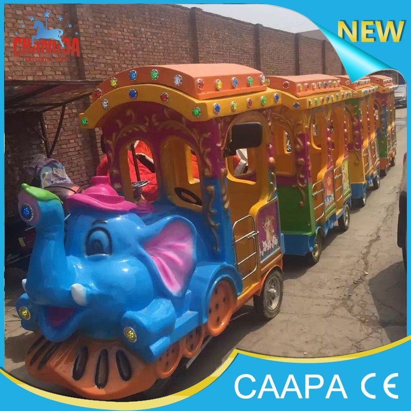 NEW!!!! 2016 really cheap changda battery trackless train for sale