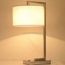 Home decorative hotel guest room metal bed side table lamp