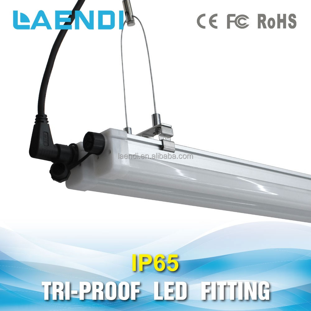 Integrated 120cm linear fixture IP65 damp-proof 24w led T8 aluminum alloy and PC 100lm/w tube light