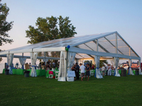 Decorated Wedding Party Tents With Curtain,Used Party Tents For Sale