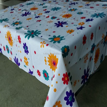 PEVA Flannel Back Plastic Tablecloth/Wholesale PVC Table Covers with Flannel Backing /Vinyl Table Covers in China