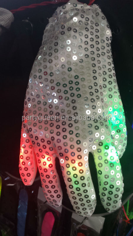 LED light up gloves G-P073
