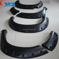 TOYOTA HILUX VIGO 2005 modified car arch fenders Compression molding ABS Plastic side guard wheel cover black fender flares