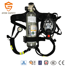 Self contained breathing apparatus respiratory protection with high pressure 3L carbon fiber O2 bottles