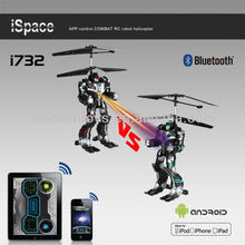 i732 2013 Hot Model! iPhone control via bluetooth rc robot helicopter