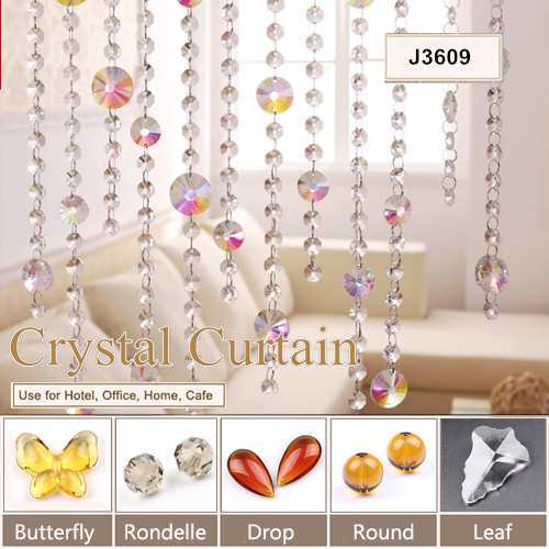 wholesale handmade crystal gorgeous curtain styles for dubai