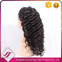 110%-130% Density AAAAA Virgin Human Hair Front Lace Wig Loose Wave