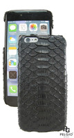 "PELGIO Genuine Python Belly Skin i6 4.7"" Mobile Phone Hard Case Black"
