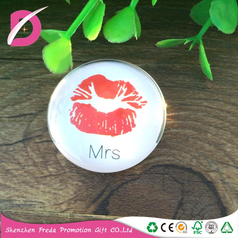 Hot Sale Customized Colorful Printed Fashionable Glass Magnet for Fridge