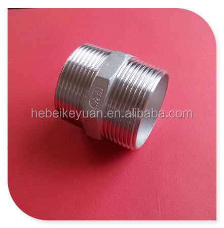 150# threaded fittings hex nippel ss316 size 1inch