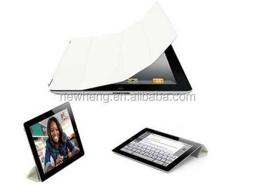 new stylish Slim Magnetic Smart Cover Wake/Sleep PU Stand Case for ipad 2/3/4