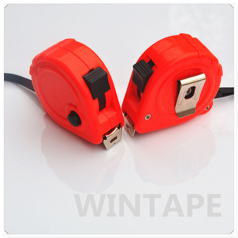 Power return small three stop button steel tape measure for offset printing with Your Design