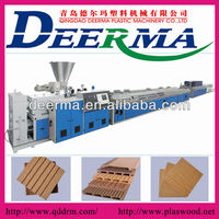 wood plastic composite WPC hollow decking machines
