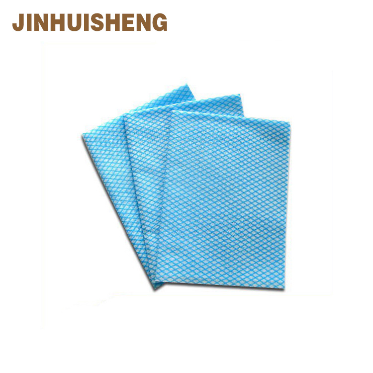 [JHS] PET/Woodpulp spunlace non woven raw material folded